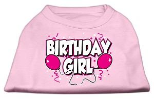 Birthday Girl Screen Print Shirts Light Pink XS (8)